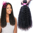 Brazilian Kinky Curly Hair Weave 3 Bundles Remy Human Hair Curly Bundles Natural Color 100% Human Hair Weaving 8-30 inch