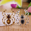 Yoursfs@ handmade Black Spider vintage brooch rhinestone brooches for women diy Fashion Jewelry breastpin brooch pins