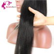 100% Unprocessed Peruvian Virgin Human Hair Lace Front Wig Natural Straight With Baby Hair For Black Human