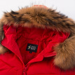 Snow in autumn and winter down jacket female raccoon big fur collar thick in the long coat A1621YY132 big red | 1218 XXXL