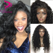 9A Pre Plucked Natural Hairline Lace Front Wigs With Baby Hair Natural Wave Brazilian Virgin Human Hair Wigs For Black Women
