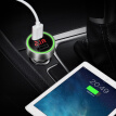 Founder (iFound) car charger car charger cigarette lighter F105 silver dual USB atmosphere lights car power car charger a drag two