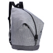 INTERIGHT men and women fashion striped casual ultra light backpack MW02 gray 25*25*45CM