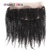 360 Lace Frontal Closure Kinky Curly Brazilian Full Lace Band Frontal Natural Hairline Remy Hair Pre Plucked