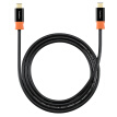 (PowerSync) CUBCKCR0015C Type C on the Type C charge transmission data cable two-color version of the anti-swing resistant bending black with orange 1.5 meters