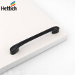 Hettich 24631 drawer pull clothes wardrobe cabinet furniture door handle black 128 holes from one loading