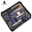 HT9213 Japanese 440c stainless steel professional hairdressing scissors set for barber,Razor & Thinning Shear Trimmer royal blue