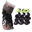 Pre Plucked 360 Lace Frontal Closure Natural Hairline Malaysian Virgin Hair Body Wave Lace Band Frontal Closure with Baby Hair