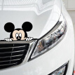 Sheng Sheng special waterproof sunscreen car male Mickey car cover scratch car stickers rearview mirror car stickers size: 14*7cm (single loading)