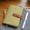 Kinbor cotton and linen A5 hand book book / schedule notebook hand book / stationery notebook bean green DTB6041-3