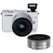 Canon EOS M10 miniature single electric double head kit white (zoom EF-M 15-45mm) & (fixed focus EF-M 22mm f / 2 STM)