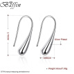BAFFIN Fashion Simple Drop Earrings Silver Plated Piercing Jewelry For Women Party Girls Gift