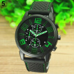 2017 New Fashion Casual Quartz Analog Silicone Stainless Steel Dial Sports WristWatch Business watch