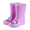 PaulFrank big mouth monkey children's rain boots men and women baby tube rain boots rubber shoes water shoes PF1008 purple 26 (suitable for foot length 170mm)