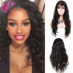 8A Full Lace Wig Malaysian Virgin Hair With Baby Hair Natural Hairline Natural Color 130% Density Full  Lace Wigs
