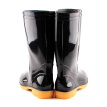 Pull back Warrior rain boots men's high-profile waterproof rain boots outdoor rain boots work shoes overshoes HXL807 black in the tube 41