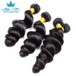 Brazilian Virgin Hair 4 Bundles Loose Wave weave Wet And Wavy Virgin Brazilian Hair Weave Bundles Human Hair Extensions Bundles