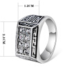 Yoursfs@ Vintage Cubic Zirconia Rings Men Filled CZ Created Retro Rock Steam Punk Exquisite Costume Charm Jewelry For Man
