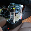 Huashi car seat gap storage box car water cup rack storage box trash box car creative storage box black