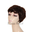 Short hair machine made Brazilian Natural Human wigs Pixie Short Full Lace Human Cut Hair Wig Glueless None Lace Wig For