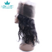 360 Lace Frontal with Bundles Brazilian Body Wave Virgin Hair with Frontal Closure 360 Lace Band with Baby Hair Natural Black 1B