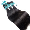 Brazilian Straight Hair With 360 Frontal Virgin Straight Human Hair 3 Bundles With 360 Lace Frontal Closure