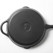 Casting (Jill May) 26cm cast iron pot pan frying pan open fire induction cooker universal glass cover section