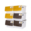 Camellia 34L storage box storage box oblique mouth flip storage box 2885 3 sticks brown