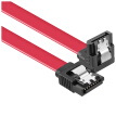 Suoli SATA3 generation hard drive data cable support SSD SSD straight / elbow length 0.5 m red SLG45