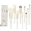 Charm Silk (MSQ) floral linen 9 makeup brush set for beginners 9 full powder brush foundation brush eye shadow brush blush brush makeup brush