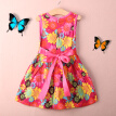 Details about  HOT! Toddler Kids Girls Summer Princess Floral Lace Pierced Party Dress Age 2-7Y
