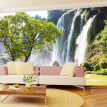 Custom Mural Wallpaper 3D Wall Mural Natural Landscape Waterfalls And Green Tree Photo Wallpaper Non-woven Wall coverings Paper