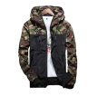 Fashion Men Camouflage Coat Mens Hoodies Jacket Clothing Windbreaker Coats Outwear-Green,Red,Grey M-5XL LJS