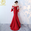 Elegant Mermaid Evening Dress Long Formal Party Prom Dresses Beads Lace Robe De Soiree Sweetheart Party vestido longo kaftan