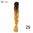 Silky Strands 24'' 100g Ombre Synthetic Braiding Hair Extensions For Crochet Braids Kanekalon Jumbo Braids Two Tone Ombre Color 1p