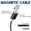 Keymao Magnetic Phone kabel data Type-C Micro USB Charger  Cable for iPhone 7 7 plus 6 6s Plus iPad Samsung S6 S7 S8 plus