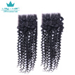 7A Indian Curly Lace Closure Indian Kinky Middle Closure 4*4 Afro Curly Lace Front Closure With Free Shipping