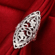 Hot Fashion Vintage Big Hollow Ring Silver Plated Statement Ring Jewelry For Women Wedding Party Accessories