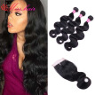 Brazilian Body Wave With Closure 3 Bundles With Closure Brazilian Hair Weave Bundles With Closure Body Wave Bundles With Closure