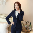 Women's Two-Button Career Blazer Mujer 2017 Spring Autumn Long Sleeve Notch Suit Jacket Plus Size S To 5XL Blazers Femme
