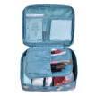 MEIFUYU MF0573 travel cosmetic bag wash gargle bag separate bottling set,blue flower