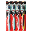 Colgate Charcoal Soft-Bristled Toothbrush 4 PCs(colorful brush handle) (New and old packaging random delivery)