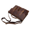 DALFR Genuine Leather Messenger Bags for Men 19 Inch Vintage Bags Crazy Horse Leather Handbags for Men Famous Brand Briefcase