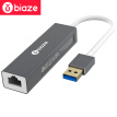 BIAZE USB Splitter 3.0 Gigabit Ethernet NIC USB to RJ45 cable interface converter Apple Mac Hub HUB extended access hard disk ZH17-metal gray
