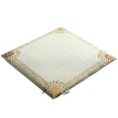 Nobildonna Linen Lotus Pattern Embroidery 43*43*3cm Square Chinese Style Meditation Cushion Chair Pads Tatami Floor Cushions