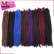 Mirra's Mirror 14in 18in Crochet Braid Hair 6pcs faux locs 24 Strands Synthetic Twist Hair Extensions Kanekalon Xpression Braids