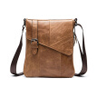 DALFR Genuine Leather Messenger Bags Men Crossbody Bag 15 Inch Cowhide Bags for Men Vintage Style Briefcase