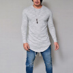 New Men Casual T Shirt Cotton Long Sleeve O-Neck Silm Fit T-shirt Mens Fashion Solid Color Tshirt Men's Clothing S-3XL