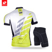 NUCKILY Men's summer cycling wear short sleeve jersey and shorts perfect design bike suits
