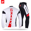 NUCKILY Men's Spring/Autumn high performance long sleeve bike padded wear bicycle set